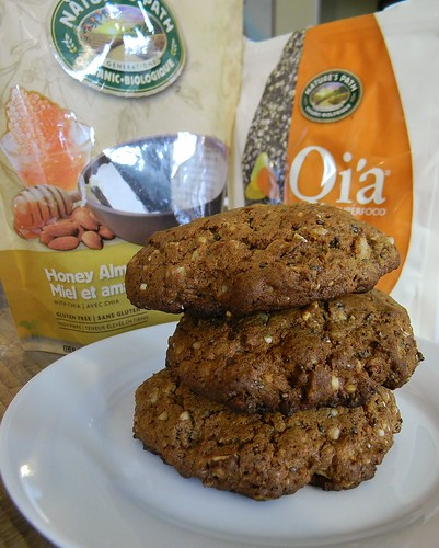 cookies breakfast healthy natural sweet nuts honey almonds eggs filling baked hearty glutenfree kinako almondbutter riseandshine wholegrain lowsugar highprotein qia breakfastcookies sweetriceflour riseupandshine truvia powercookies naturespathgranola naturespathqia riseup2 naturespathhoneyalmondgranola naturaltraditionsbrownricebranandgermpowder truviabrownbakingblend golohighproteinalmondbutter earthbalancenaturalbutteryspread packedwithvitaminsmineralsproteinfibreandhealthyfats