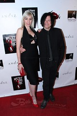 Juliette and Sean Beavan of 8mm attend Whiskey A Go Go 50th Anniversary
