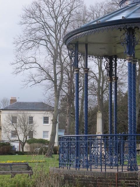 Bandstand and War Memorial, Memorial Park Romsey SWC Walk 58 Mottisfont and Dunbridge to Romsey taken by Karen C.