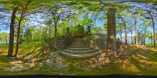 vacation sculpture house lake stairs concrete us unitedstates outdoor lion 360 step missouri mold lakeoftheozarks ricoh ozark spherical degrees theta camdenton thetas theta360 saraspaedy
