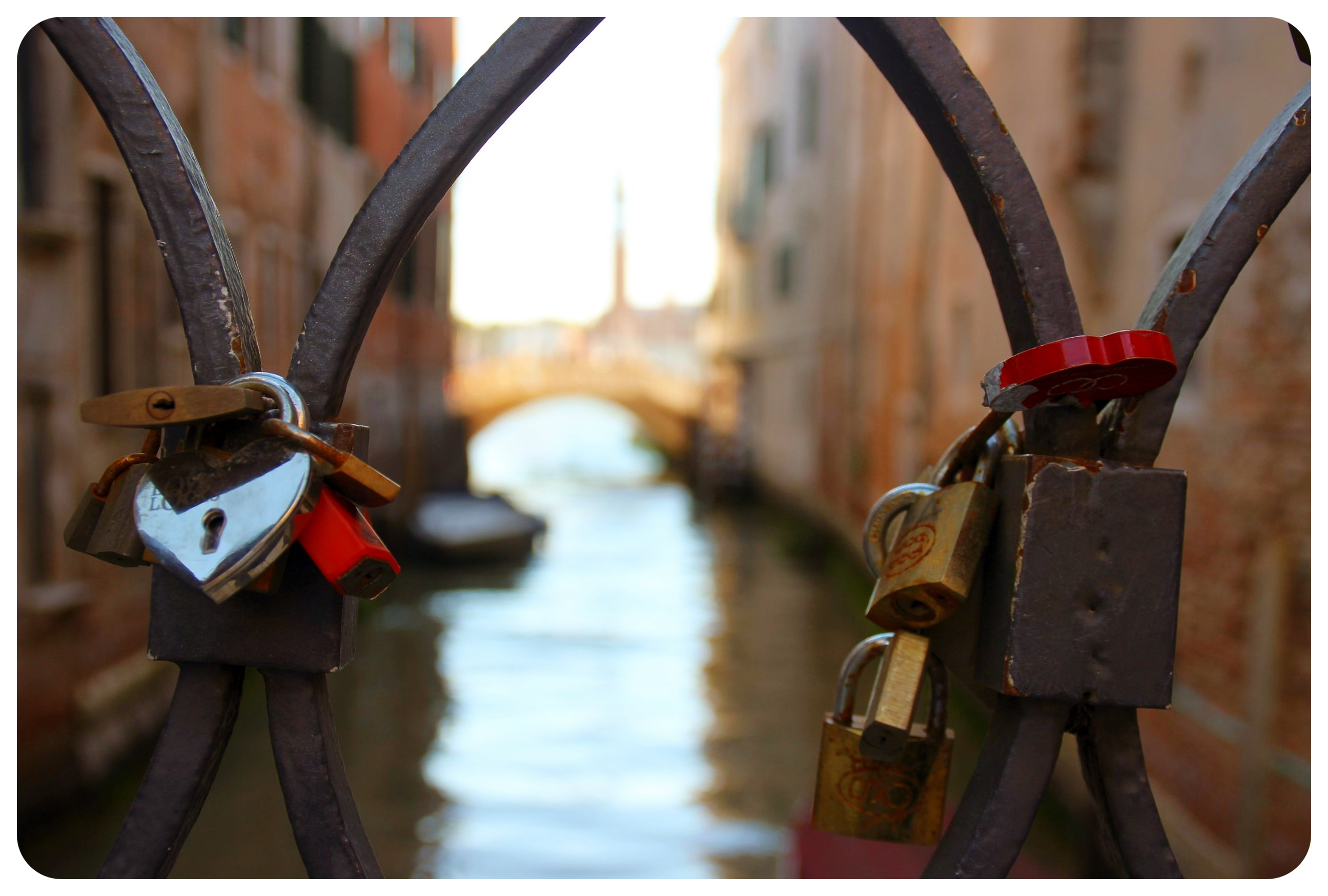 venice love locks italy