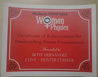Fwd: Fwd: CUWiP poster award