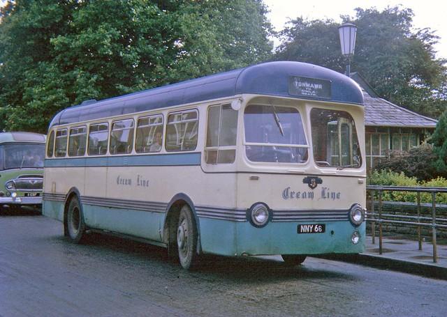 NNY66-Cream Line Tonmawr-Leyland PSUC11-Saro-August 1970