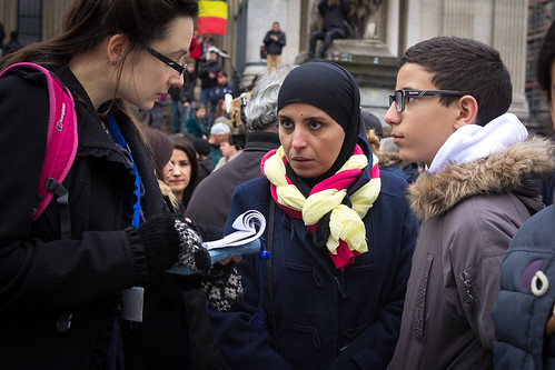 Brussels 23 March 2016 - Gathering at the Bourse | by Valentina Media