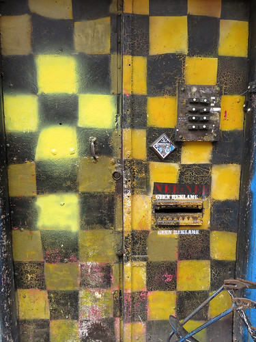 Yellow and Black Grid on an Amsterdam Door