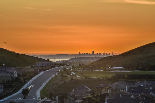 sanfrancisco california city sunset dublin orange west color skyline nikon view over bayarea april eastbay alamedacounty 2016 suburbian boury pbo31 d810