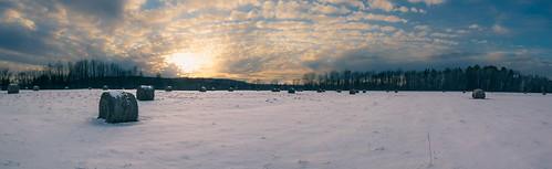 winter sunset panorama snow clouds burlington canon landscape eos is vermont angle mark farm wide ii 7d usm hay bale williston f4l ef1635mm