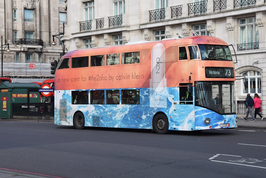 Calvin Klein Bus LT538   Arriva London Calvin Klein Bus LT53
