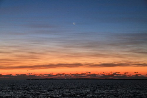 photosbymch landscape nightscape seascape planetsinconjunction sunrise clouds sky mercury moon venus capehenry capehenrylight lighthouse chesapeakebay chesapeakebaybridgetunnel astrophotography virginiabeach virginia usa canon 5dmkiii 2016 outdoor ocean sureal crescentmoon sea noctilucentclouds