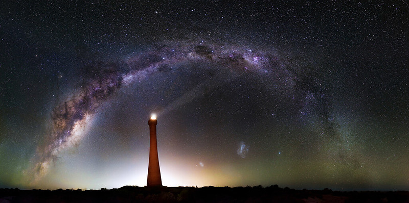 Milky Way over Guilderton Lighthouse, Western Australia - 35mm Panorama