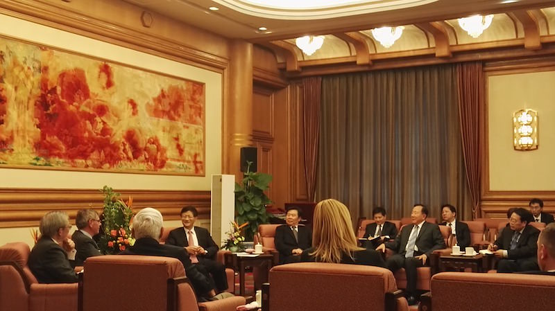 Bruno Gollnisch en Chine - Meeting with Mr. Meng