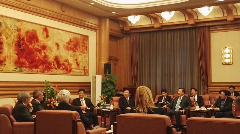Bruno Gollnisch en Chine - Meeting with Mr. Meng
