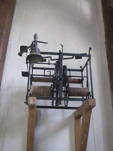 Rare clock mechanism, St. Andrew's, Mottisfont SWC Walk 58 Mottisfont and Dunbridge to Romsey taken by Karen C.