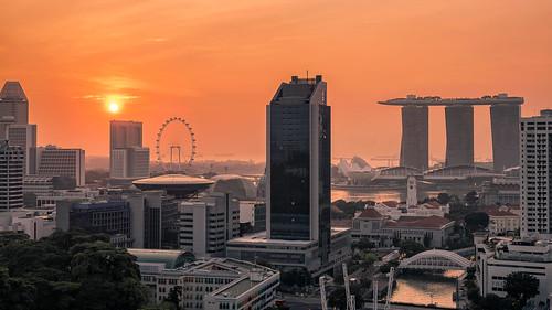 sun architecture sunrise singapore cityscape outdoor sg singapur clarkequay novotel marinabay