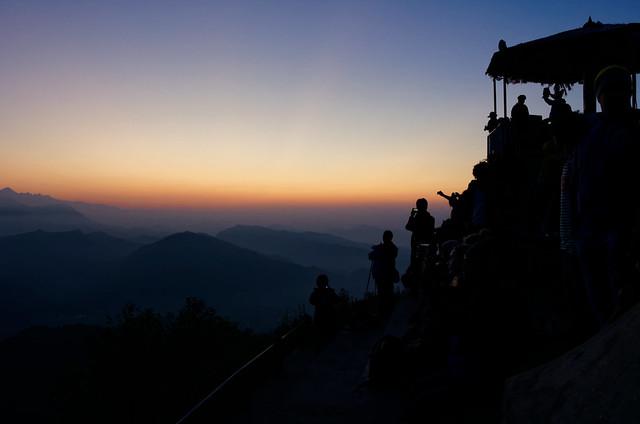 Sunset on Himalaya Range