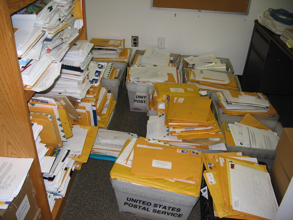Other imprint's slush pile | This was my co-worker's pile. I… | Flickr