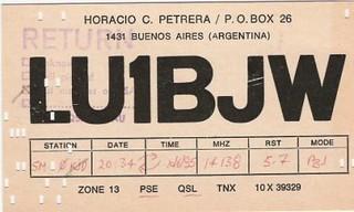 Qsl Card 1985