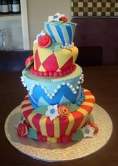 Topsy Turvy Wedding Cake | by cupcaketastic