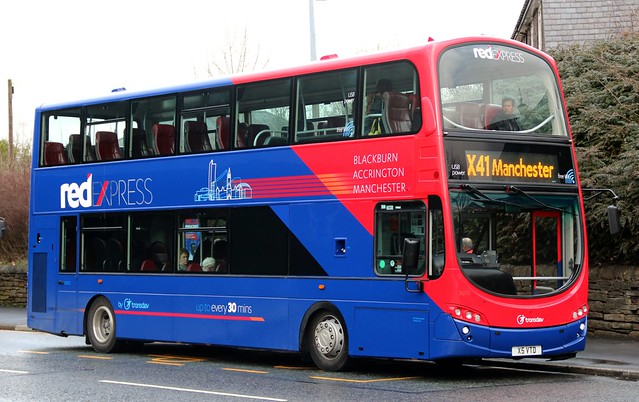 Transdev Lancashire United 3605 X5 VTD at Intack with a morning X41 'Red Express' service to Manchester