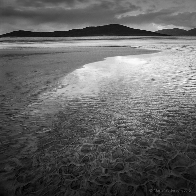 Isle of Harris, Outer Hebrides - Patterns in the sand bw version