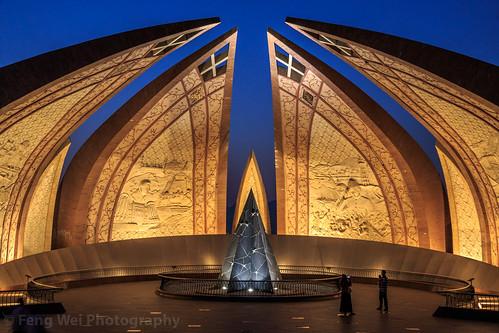 travel pakistan light monument horizontal architecture night outdoors asia landmark pk islamabad colorimage islamicculture indiansubcontinent pakistanmonument islamabadcapitalterritory