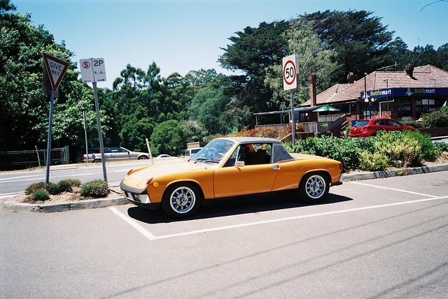 Classic orange car