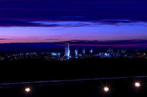 blue sunset citylandscape albanyny nightlandscape nikkor70200mmf28gafsvr nikond7000 dajewski gdajewski