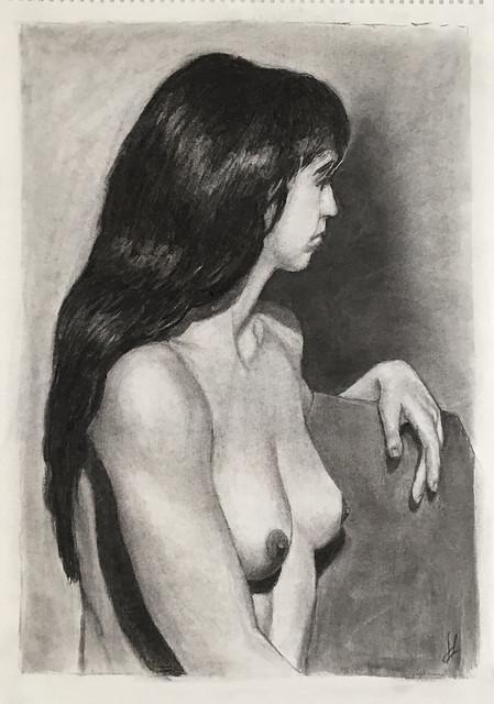 She's got long black hair, charcoal 16-02-16