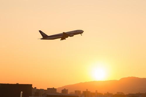 sunset 夕景 豊中市 伊丹空港 大阪府