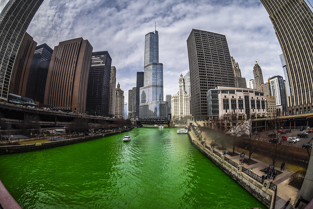 Greening of the Chicago River - 2016 Edition