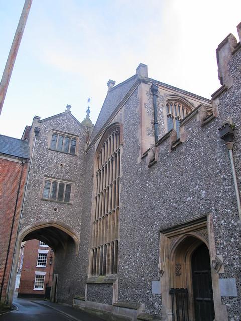 Abbey United Reformed Church, Romsey, with Gateway SWC Walk 58 Mottisfont and Dunbridge to Romsey taken by Karen C.