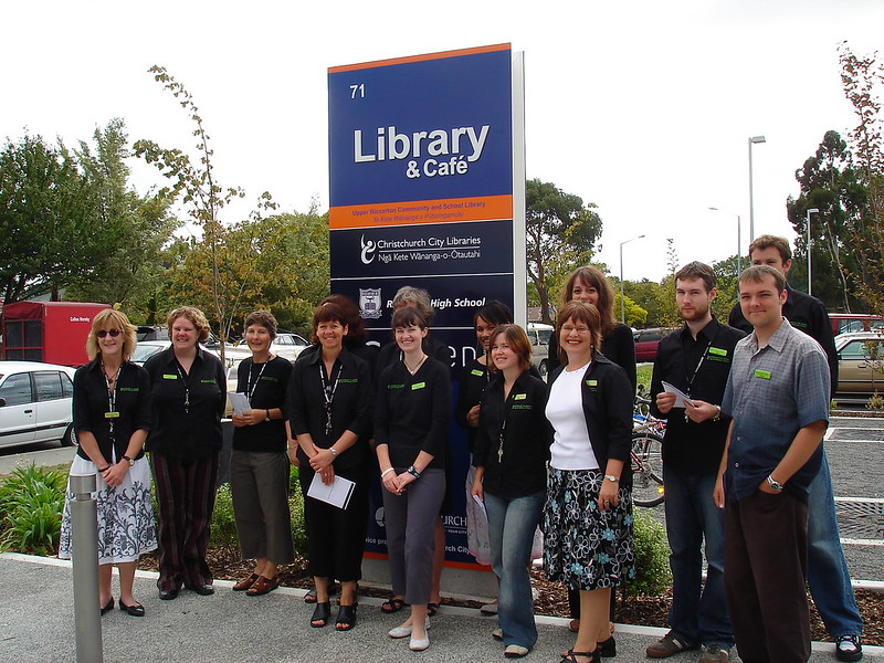 Upper Riccarton Library staff