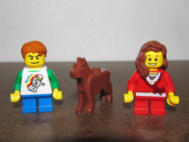 Lego Kids with Pet Dog