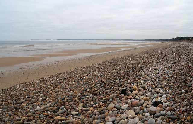 Heading west along the beach from Burghead
