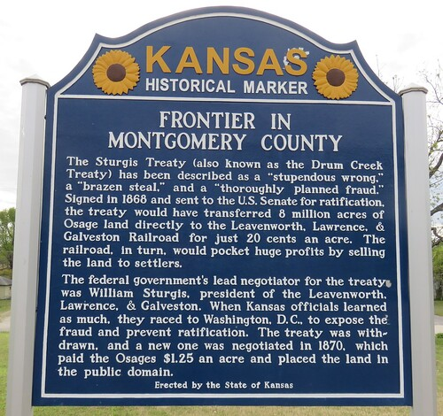 kansas ks kansashistoricalmarkers montgomerycounty coffeyville roadsideamerica northamerica unitedstates us