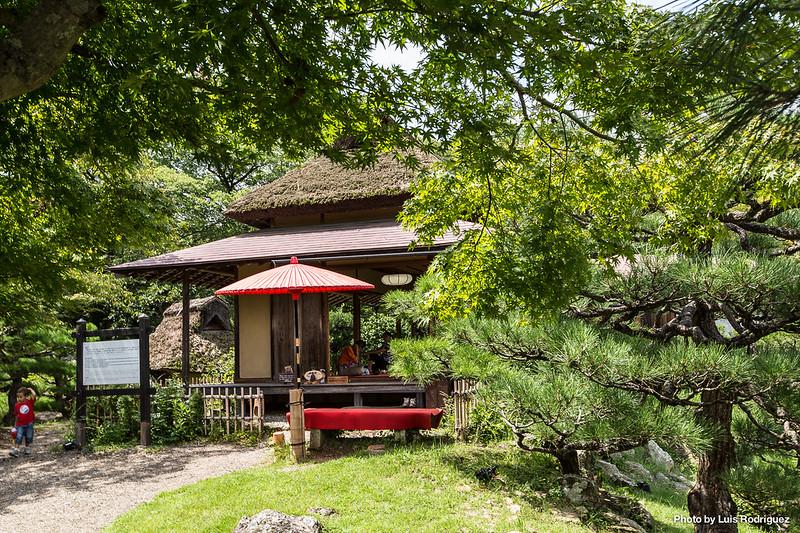 Casa de té en los jardines Genkyu-en de Hikone