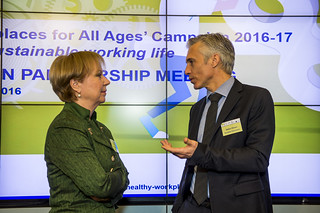 16/03/2016 - 11:26 - Christa Sedlatschek, Director of EU-OSHA; and Stefan Olsson, Director, Employment and Social Legislation, Social Dialogue, DG Employment, Social Affairs & Inclusion, European Commission.
