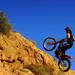 Trial motorcross bike in Zaragoza Spain by Phil Fiddyment