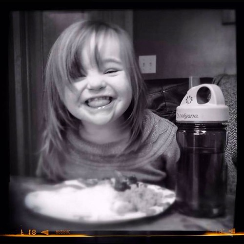 Breakfast with princess Madison.   by Rick Needle Syracuse NY Photographer