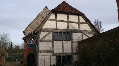 King John's House and Tudor Cottage, frontal view SWC Walk 58 Mottisfont and Dunbridge to Romsey