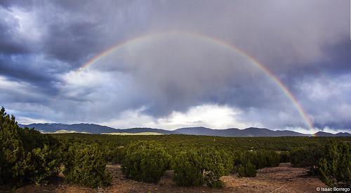 uploadedviaflickrqcom rainbow storm mountains clouds rain santafe newmexico canonrebelt4i desert unitedstates america usa landofenchantment southwest