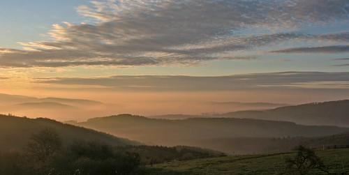 sunrise sonnenaufgang greifenstein westerwald