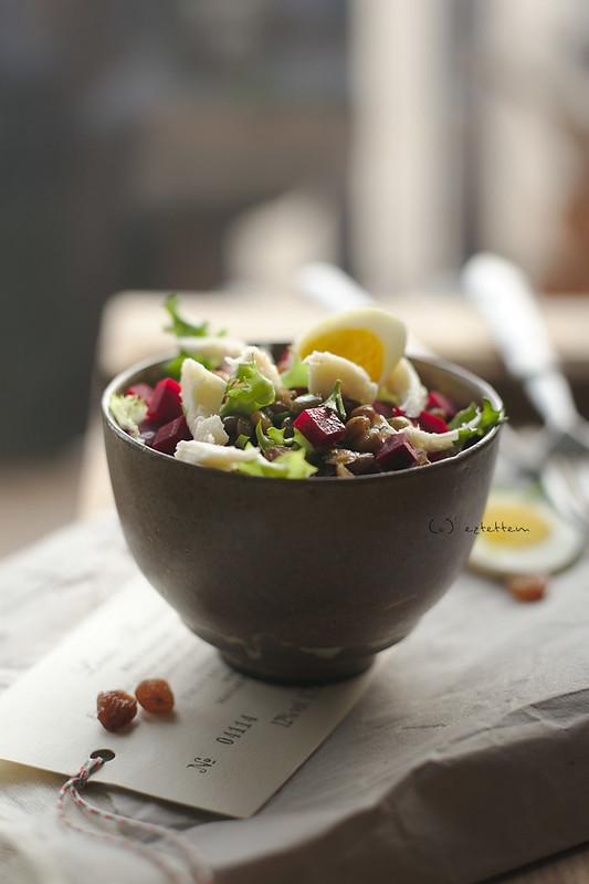 herby lentil salad