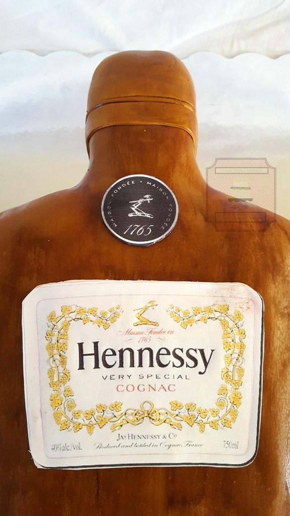 Hennessy Bottle Birthday Cake | 50th Birthday Hennessy Bottl… | Flickr