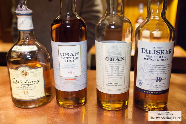 Dalwhinnie 15-Year Highland Single Malt Scotch Whiskey, Oban Little Bay Single Malt, Oban 14-Year & Talisker 10-Year Single Malt Scotch Whisky