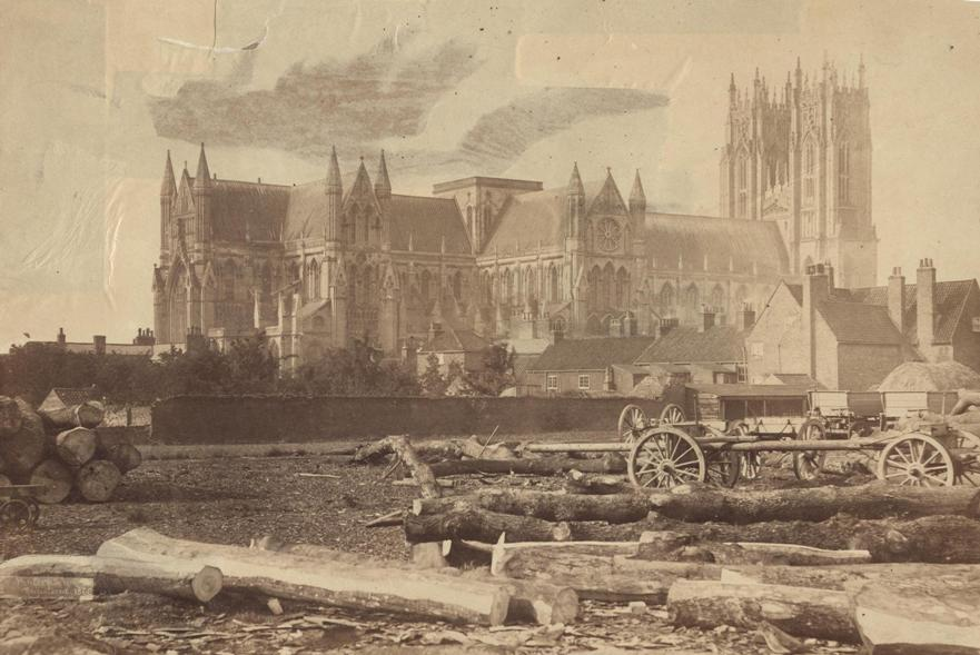 Beverley Minster from Crumps woodyard 1866 (archive ref PH-4-7)