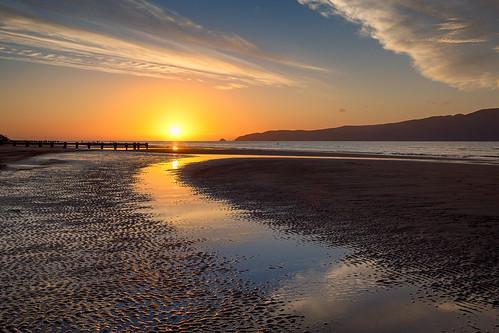beach coastallandscape coastline evening island kapiticoast kapitiisland landscape nature newzealand northisland paraparaumu paraparaumubeach sand seascape shore sunset wellington nz