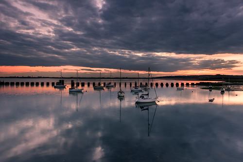 uk sunset clouds reflections boats grey still nikon moody haylingisland hampshire calm filter lee nd april yachts grad southcoast 2016 2470mm langstoneharbour d810 moodysunset sunsetsnapper