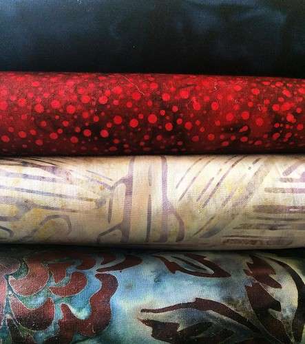 Ready to start working on my mystery quilt for this year! Really excited to get started on this project! #dbq2016mystery #fabric #batik #newproject
