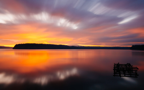 sunrise longexposure gigharbor clouds colorful water reflection pacificnorthwest canoneos5dmarkiii canonef1635mmf4lis bwnd1000x mtrainier washington